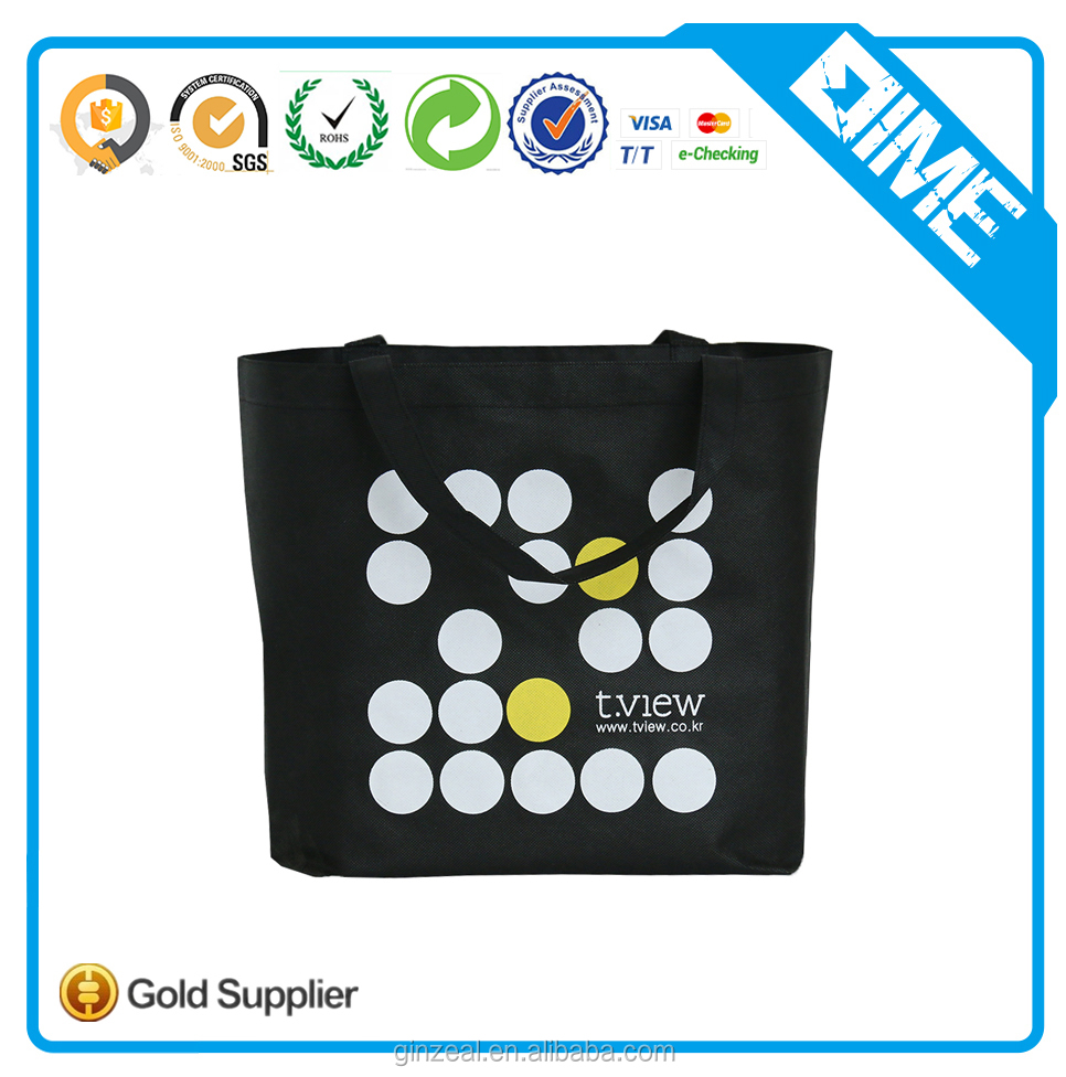 Promotional Cheap Customized Foldable Laminated Eco Fabric Tote Non-woven Shopping Bag