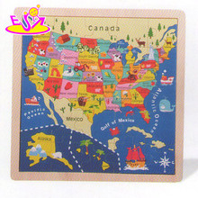 Wooden Montessori Kids map jigsaw puzzle,Educational Children Wooden map puzzle toy,Promotion Puzzle Map of Canada W14C141