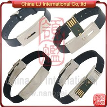 fashionable leather bracelet usb flash drive promotional gifts
