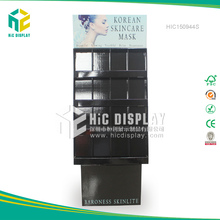 HIC pop mask floor display stand, skin care beauty products paper display