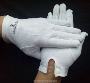 Cotton White Gloves for Military Parade