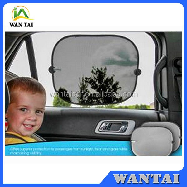Car Rear Side Window Sun Shade Foldable Mesh Cover -Premium Mesh Side Sunshade for Cars