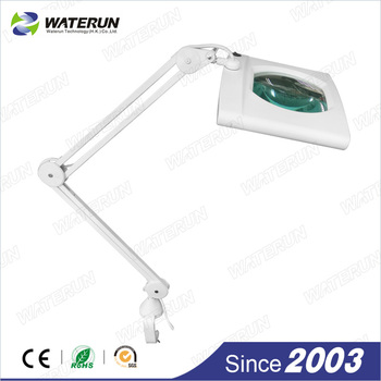 Waterun 809 square light magnifer, magnifying lamp with clamp