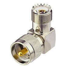 RF coaxial adapter right angle female-male UHF connector for walkie talkies antenna