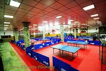 Long life at low cost pvc sports table tennis flooring