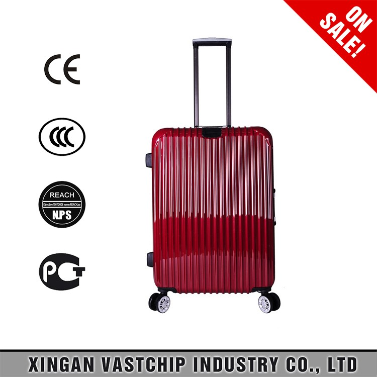 Hot sale travelmate style pc material luggage suitcase trolley bags