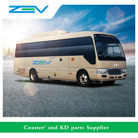 ZEV AUTO 8 meters China Toyota Coaster luxury bus good price for sale alibaba supplier