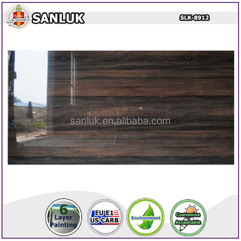 UV MDF With wood grain Design Panel for Kitchen Cabinet Wardrobe SLK-33-13-03 from factory