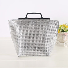 Cheap wholesale disposable alum foil cooler bag for frozen food/outdoor cooler handbag
