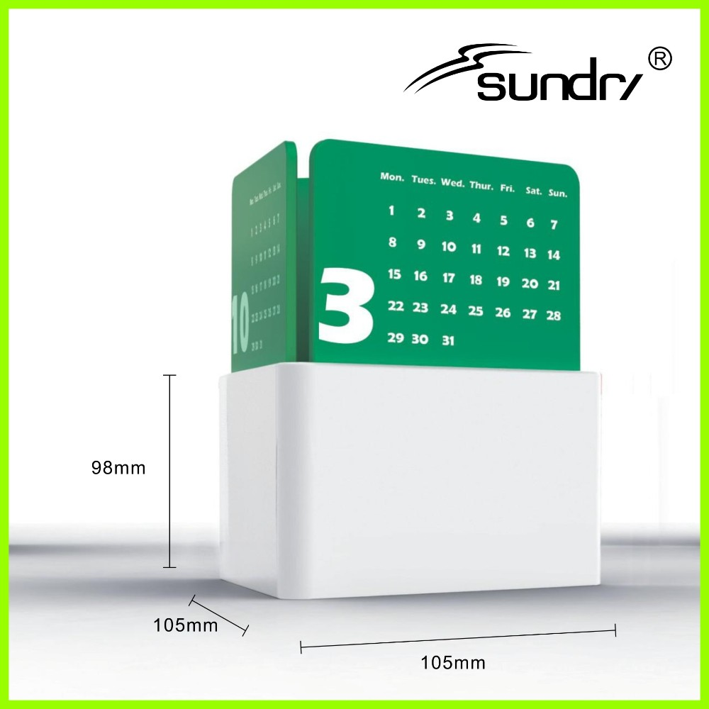 Muslim calendar 2016 Fashion office pen holder desk calendar design