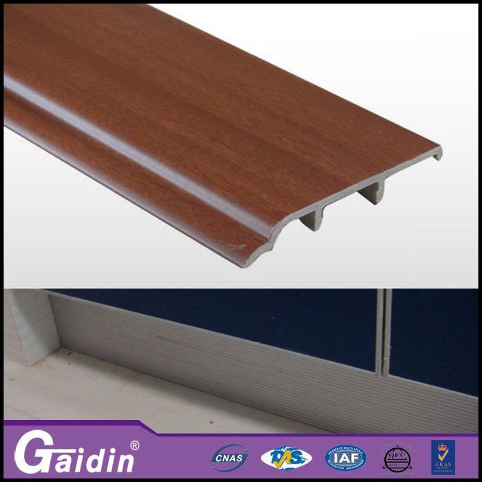 pvc floor skirting pvc kitchen skirting decorative Aluminum Brushed Skirting Board