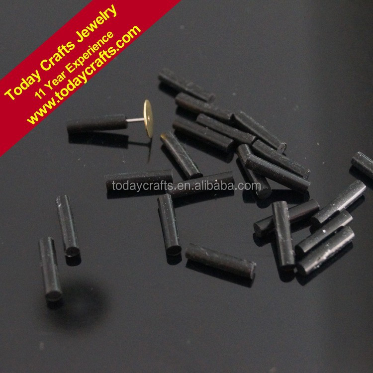 3.0mmx13mm <strong>hole</strong> 0.7mm high quality black silicone arring Back Stoppers for Ear Stud
