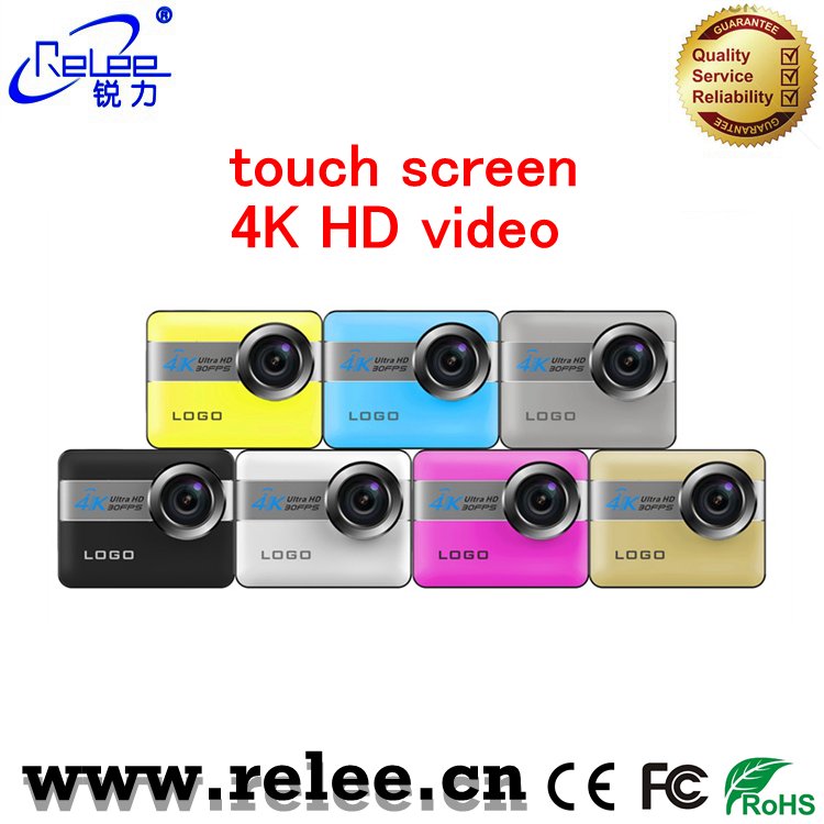 Relee new NTK96660 touch screen 4K 24fps action sport DV camera