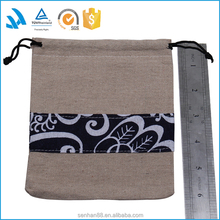 Wholesale luxury logo printed custom drawstring leather jewelry pouch, jewelry bag