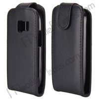 Business Type Flip Leather Case For Nokia Asha N302 with Magnetic Closure, mobile phone flip pouch