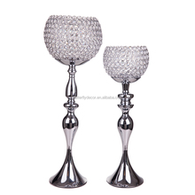 Crystal Globe Votive Tealight Tall Candle Holder Candlestick Bowl Stand Wedding Centerpiece