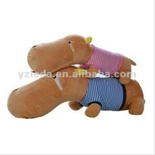 Two Color Big Head Plush Dog Dressed Toy