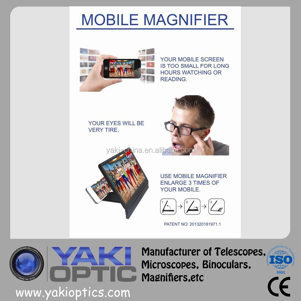 Foldable Mobile Magnifier / Foldable Phone Magnifier / Mobile Phone Screen Magnifier