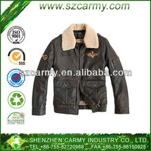 Men's Black Color Fashion Genuine Leather Retro Motorcycle Jacket