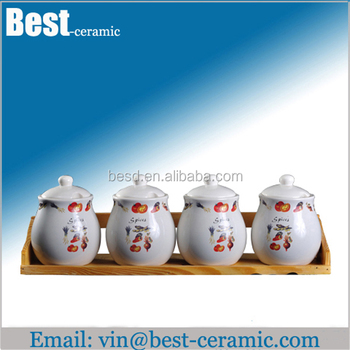 white ceramic storage jars tea coffee sugar