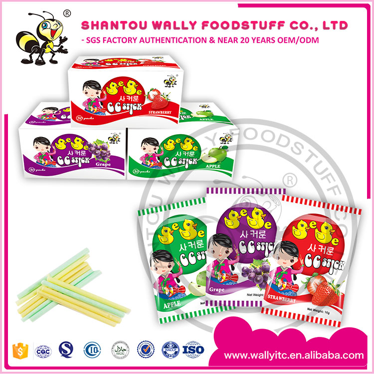 Fruit Cc Stick Candy with box packing