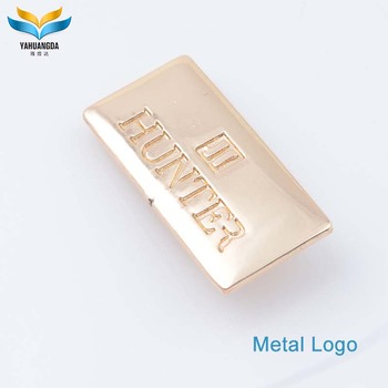 customize small metal logo name plate for handbag