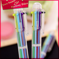 Factory price stationery from china,Europe popular multi color pen/plastic cute color pen set