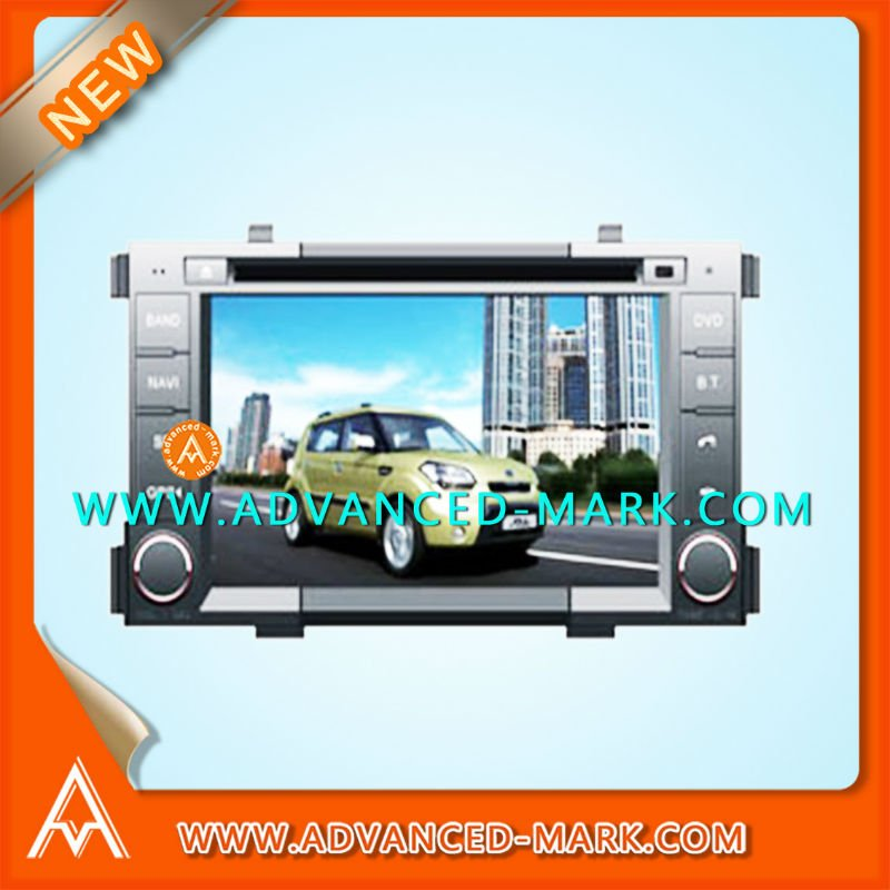 "NEW Replace Car Special DVD GPS Player for KIA SOUL 7"" Touch Screen/Bluetooth/GPS/Audio/TV/USB/IPOD ,with a Map"