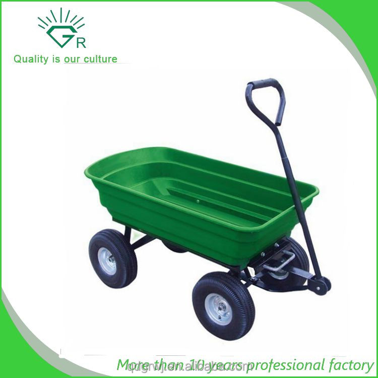 Rust Resistant Poly tray Garden Dump Utility Yard Cart