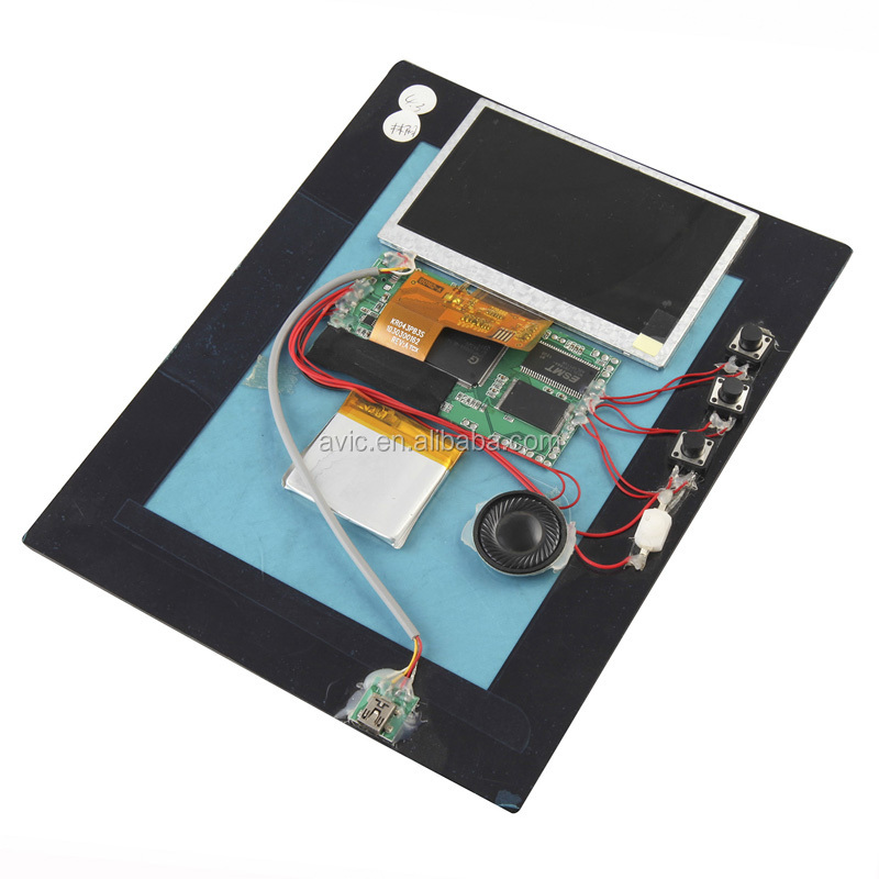 2.8,4.3'' 5'' 7'' inch lcd video brochure modules with USB cable