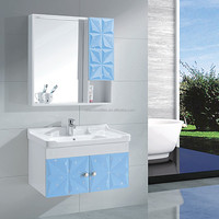GD8853 Bright blue color cabinet cheap used bathroom vanity