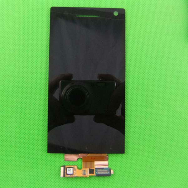 for Sony Ericsson Xperia S LT26i LT26 Arc HD lcd and touch screen digitizer assembly with Silver Frame