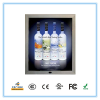 Aluminum frame magic mirror light box with sensor close it is the mirror far it is the light box
