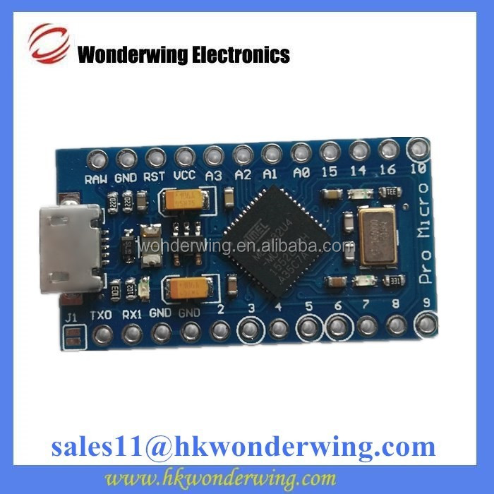 Pro micro 5v/16M mini Leonardo microcontroller development board nano ATMEGA32U4 module for Arduino