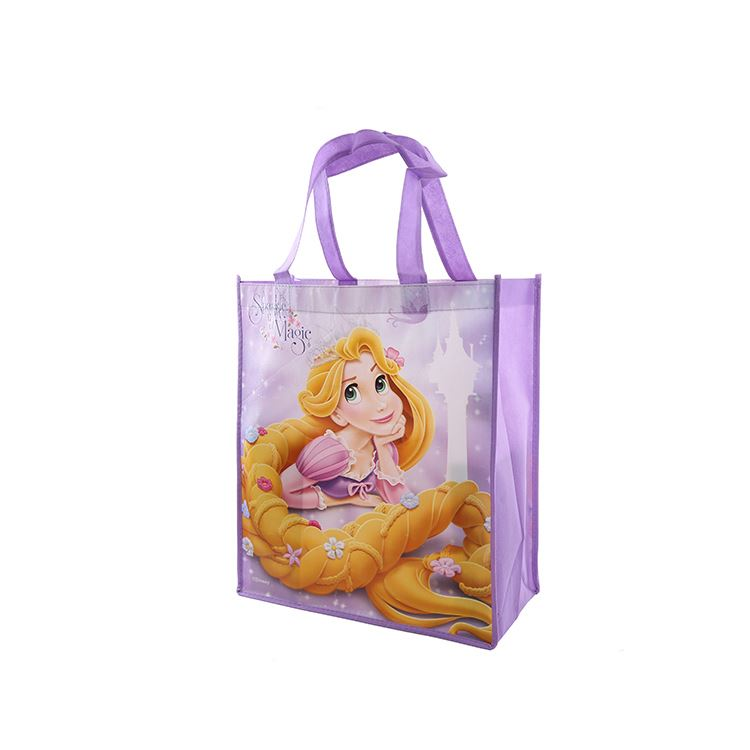 Excellent quality fashion reusable shopping purple custom colors non woven tote bag
