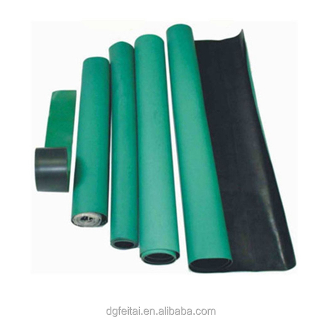10M*1.0M*2MM 2 Layer Green Anti-static Cleanroom Floor Mat Rubber Table Top ESD Mat