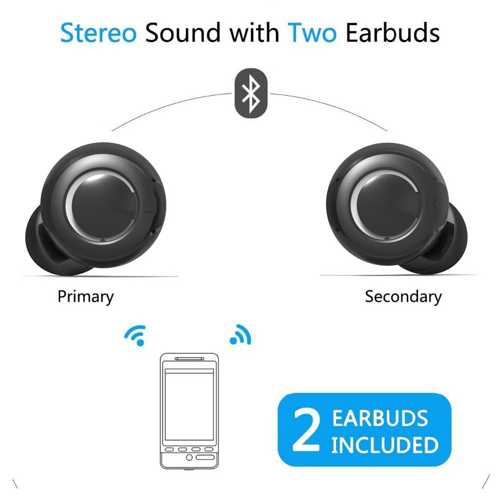 CSR 4.1 TWS Wireless Earbuds, Wireless Earphones, Twins earbuds
