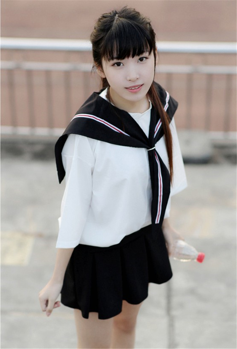 Lovely Korean Girls High School Uniform sexy school uniform skirt