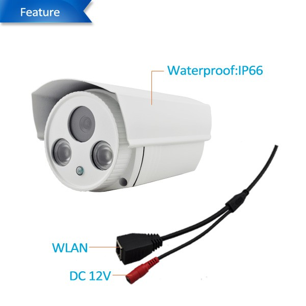 Cheap 1MP 720P HD P2P HD CMOS 50M IR Waterproof IP Camera