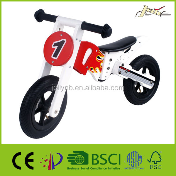 "10"" Wooden Balance Light Motor Bike as Child Walking Toy Bicycle"
