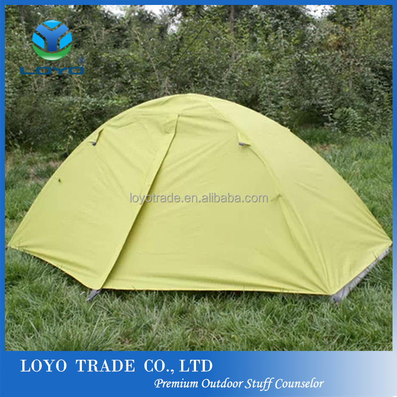 cheap folding tent double layer waterproof ultra light camping hiking tent