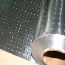 Double sided MPET (metallized PET) woven fabric radiant barrier