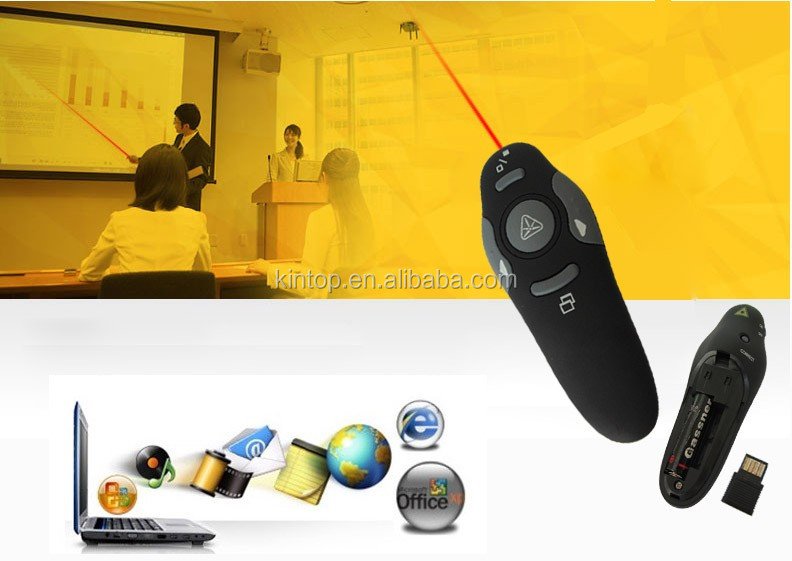 2017 Wholesale High quality 2.4G PPT Presentation Presenter with wireless mini USB click for adults for speeching