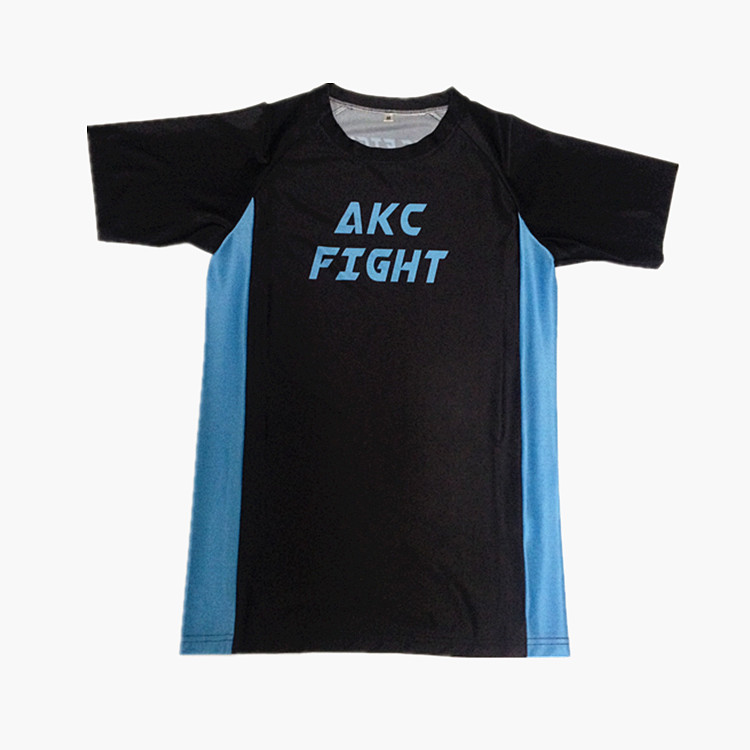 High quanlity wholesale custom mens compression fitness gym shirt with sublimation print