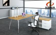 KL-02 Eco-friendly powder coated office desk without box/file pedestal