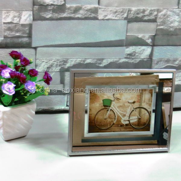 2014 new style and hot sale glass funny photo frame cardboard 4x6 picture frames wholesale AOX-1454