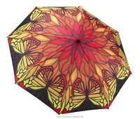 Cool Design Butterfly and Flower Printing Artist Umbrellas