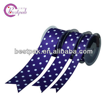 Grosgarin Ribbon With White Dots Print