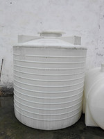 big white PE plastic vertical round chemical liquid container/water storage tank