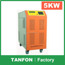Tafnon 3 phase grid tie inverter 5kw connect to solar pv modules for complete home use solar power system